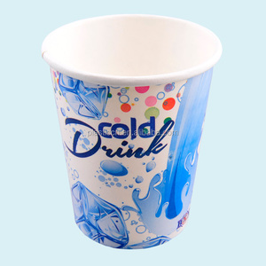 printed paper cup use for cold beverage /cold drink cup with lid