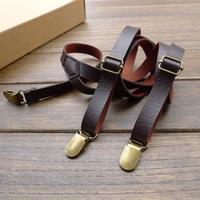 Handmade Band imitation leather straps 1.5cm men and women suspenders