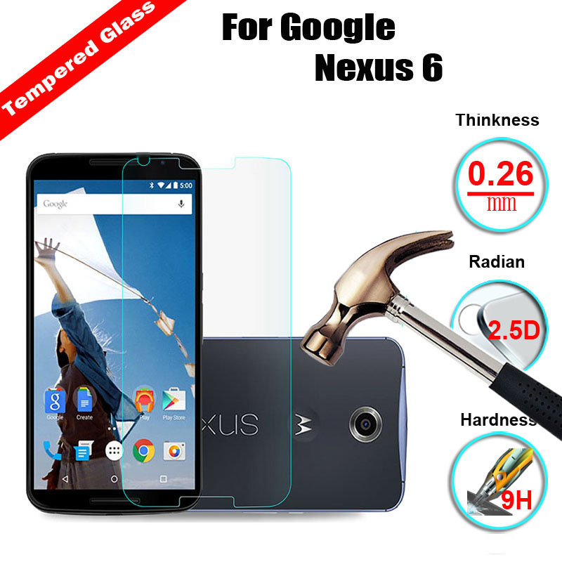 2Pcs/Lot 0 26mm Tempered Glass For LG Google Nexus 4 E9603 5 D820 5X 6P  H1512 Screen Protector Explosion-Proof Protective Film