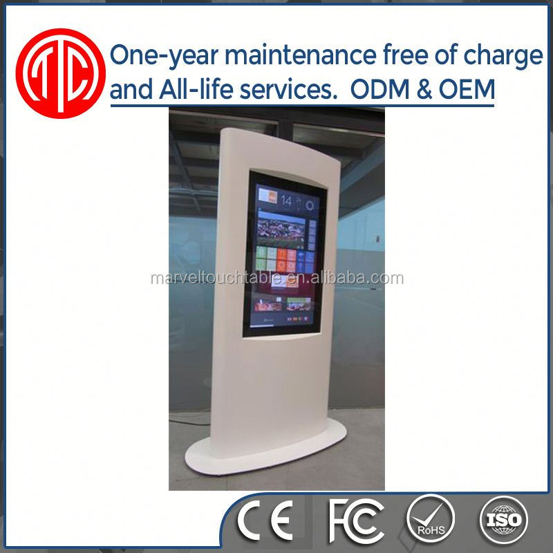 Weatherproof Interactive HD Stand Alone LED mobile outdoor kiosk
