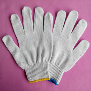 Cotton Knitted Safety Working Glove/teflon gloves