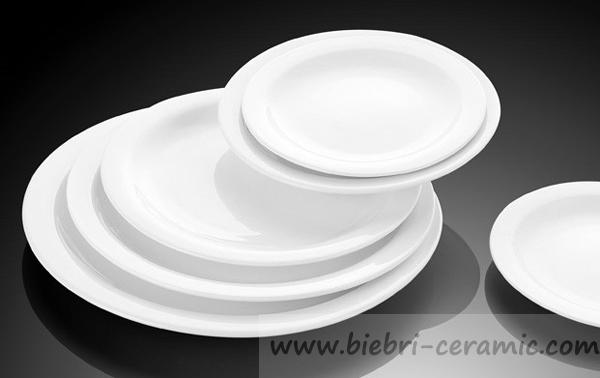Wholesale Porcelain Plate Dishes Ceramic Hotel Used Salad