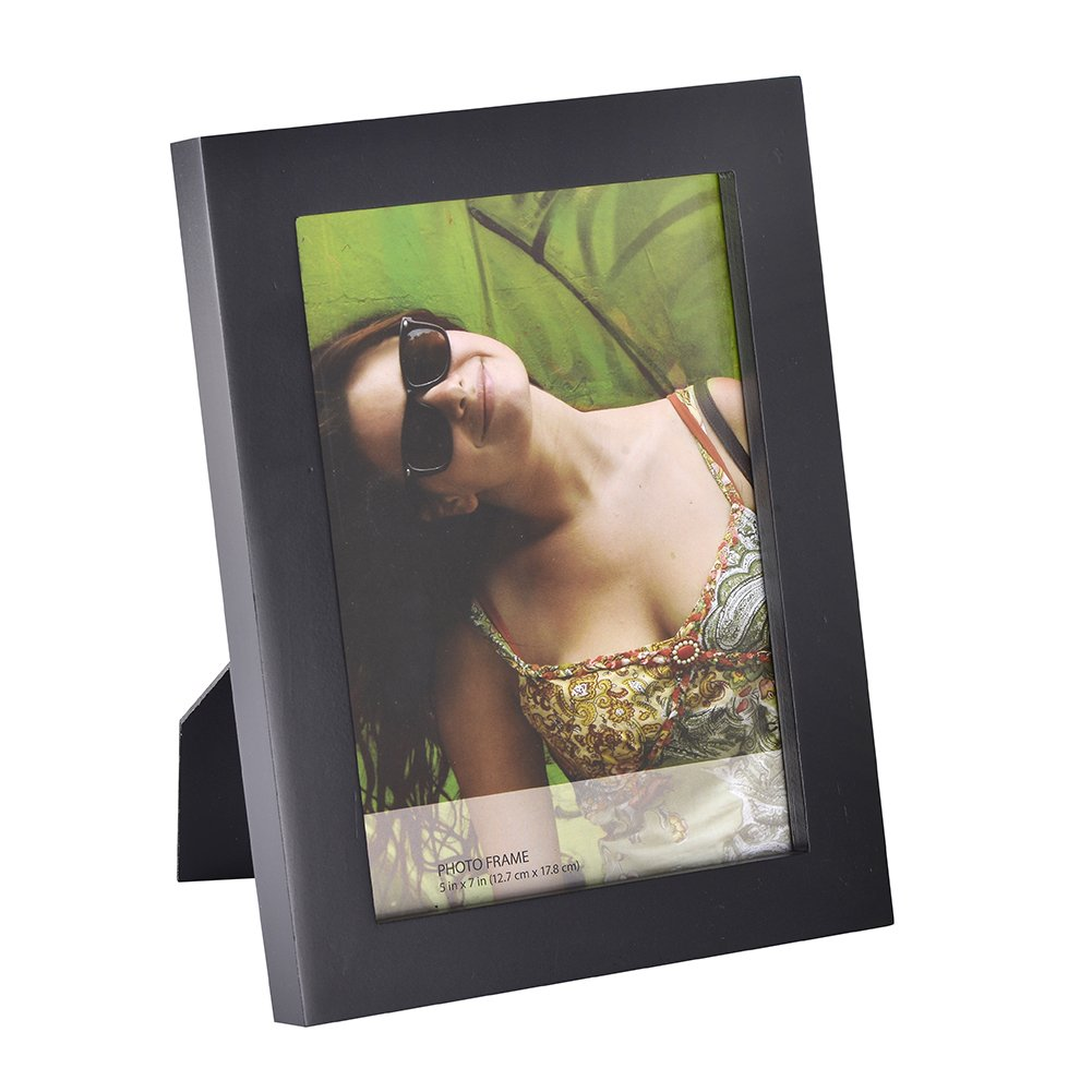 RPJC 8x10 inch Picture Frames Made of Solid Wood High Definition Glass for Table Top Display and Wall mounting photo frame Black