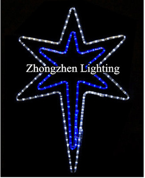 30 blue and white outdoor led rope light christmas star of 30quot blue and white outdoor led rope light christmas star of bethlehem aloadofball Images