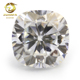 Factory direct certificated moissanite laser girdle cushion moissanite gems