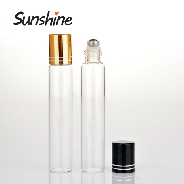 Hot koop 15 ml aluminium cap roll on glazen parfumflesje