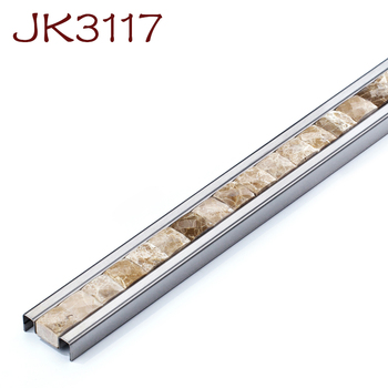 Natural Stone Mosaic Stainless Steel Marble Border Tile Wall Floor Trim