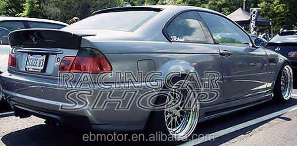 Real Carbon Fiber Trunk Spoiler Csl Bigger Wing Boot Lip Fit For 3