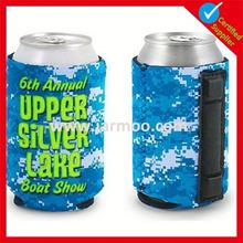 collapsible printed promotional neoprene snap cooler