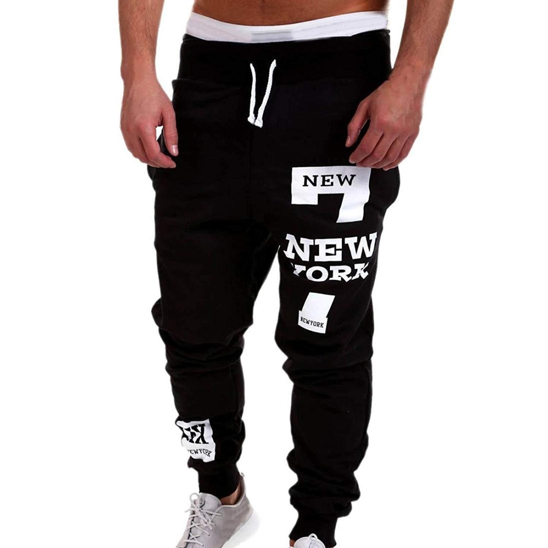 3c501f420b9aae Get Quotations · Allywit Sweatpants Men Trousers Sweatpants Slacks Casual  Elastic Baggy Jogging Pants