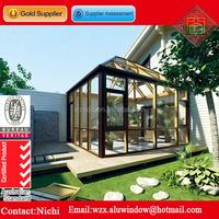 2016 latest design aluminiun build glass patio enclosures