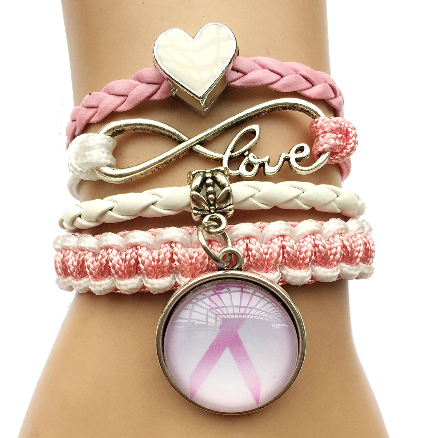 breast pin country cancer jewelry bling awareness chick bracelet support