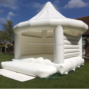 Inflatable white bouncy castle / Wedding inflatable bouncer for sale