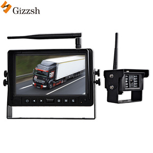Night vision water-proof wifi wireless truck camera 7 inch DVR monitor system