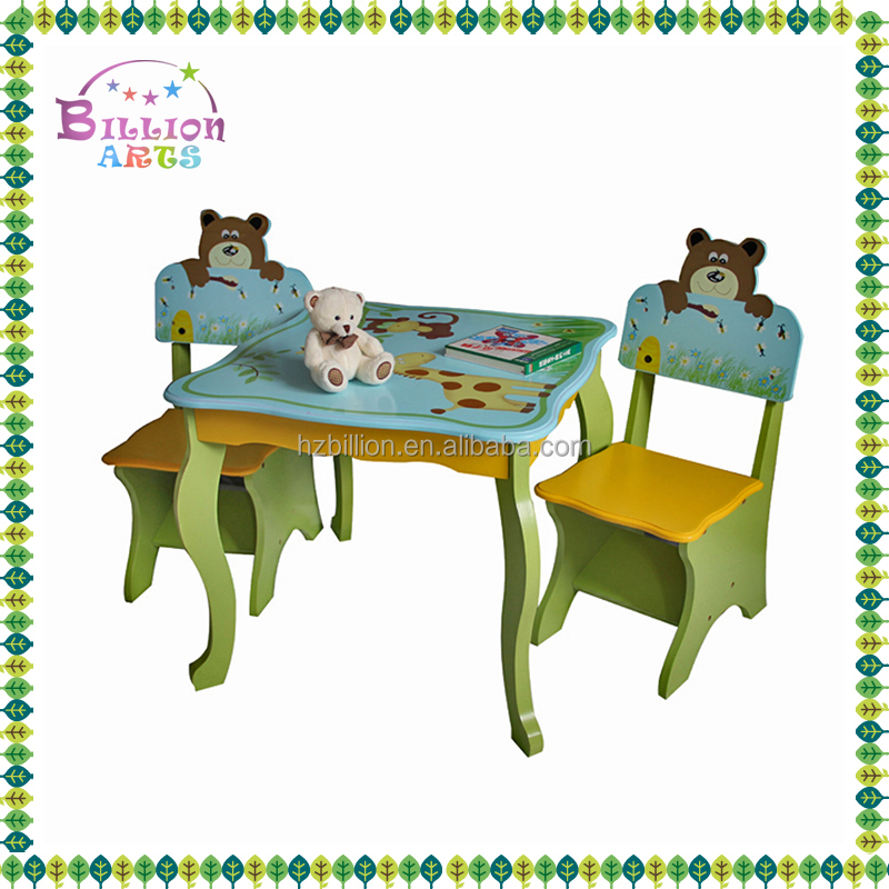 2016 cute wooden kids learning table for kids study designs