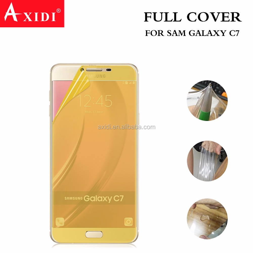 Soft Full Cover tpu screen protector film for Samsung galaxy c7 for mobile phone
