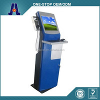 All in one free standing charging kiosk with cell phone and keyboard