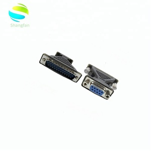 VGA RS232 9P Female to RS232 25 Pin Male Adapter With double chip Factory direct