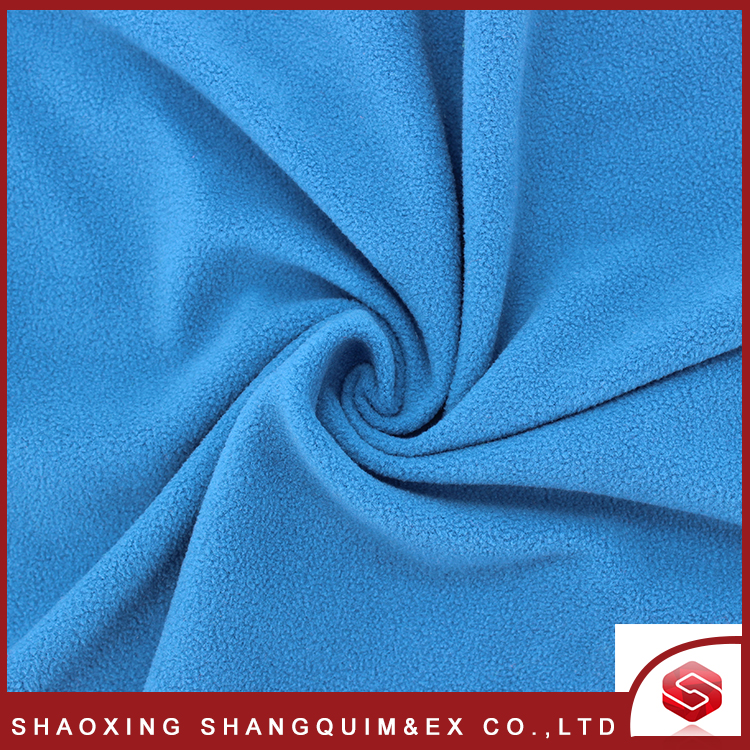 Best selling 100% polyester anti-pilling custom polar fleece fabric for warm cloth