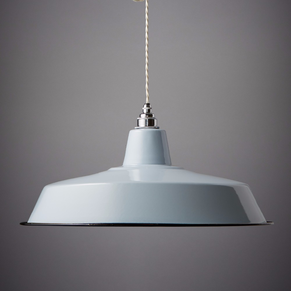 7.2-18 Nostalgia Lights Classic Enamel Shade. Grey. Pendant Light ...