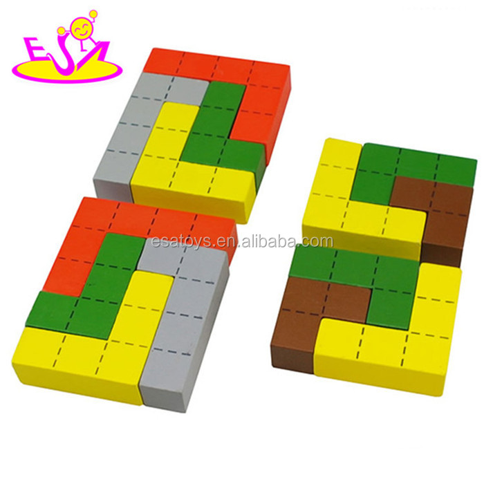 New wooden building block toys for kids, kids toy building block, pretend play wooden block toy set W13A081