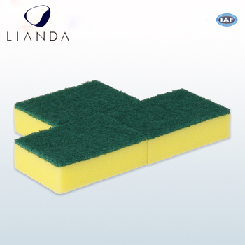China Supplier Kitchen Washing Dish Sponge Scouring Pad Types Of Cleaning  Sponges,Green Scouring Pad