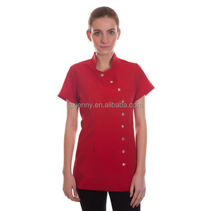 ladies short sleeve slit fit salon spa uniform