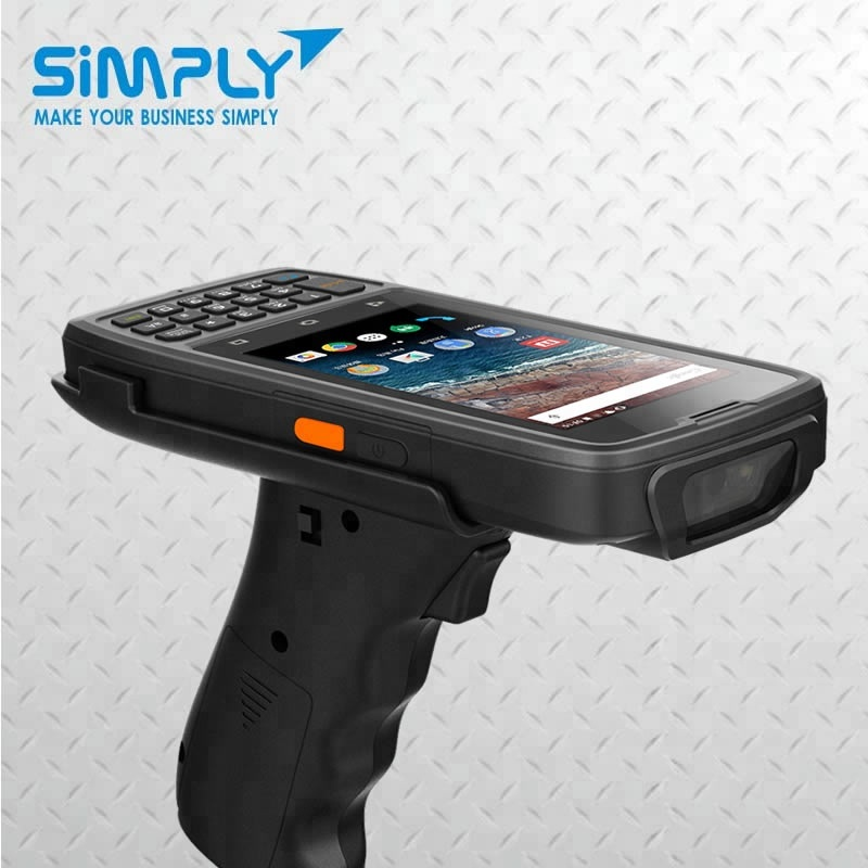 SIMPLY T5 4G LTE Gorilla glass fingerprint reader Rugged handheld android mobile computer with barcode scanner 2d