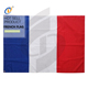 2019 Top quality popular customized knitted polyester french flag
