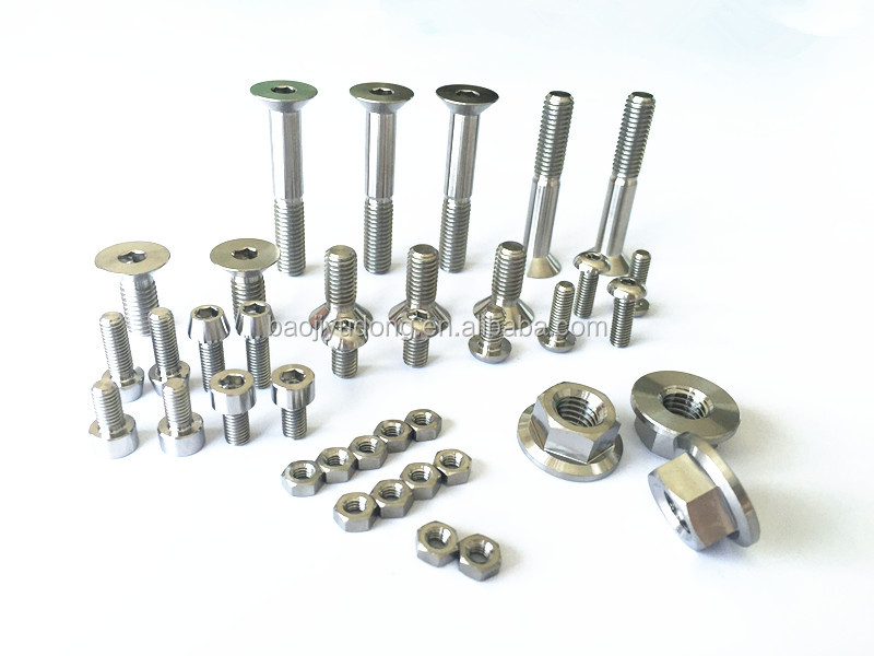 titanium screw and nuts with the standard din934 din 913 hexagon socket set screw bolt with flat point