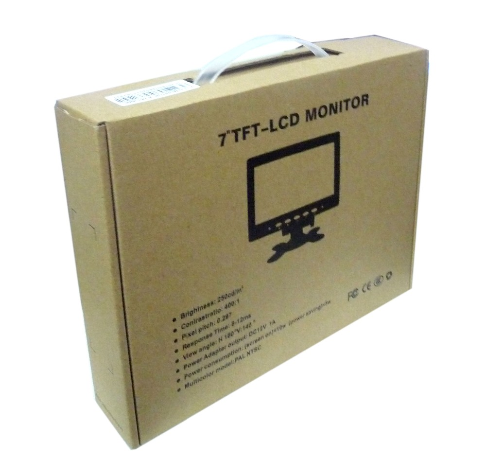 Security system 7 inch cctv monitor for school test