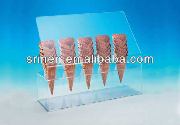 Acrylic Cone Holder with Sneeze Guard