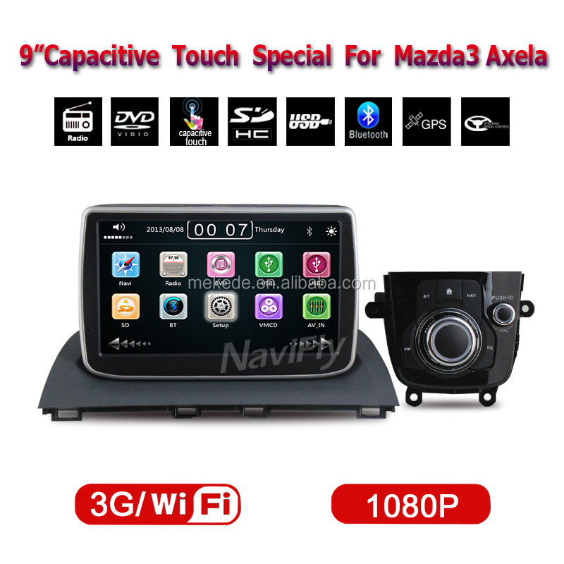 Car radio audio dvd for mazda 3 Axela 2014 multimedia player headunit Built-in GPS navigation