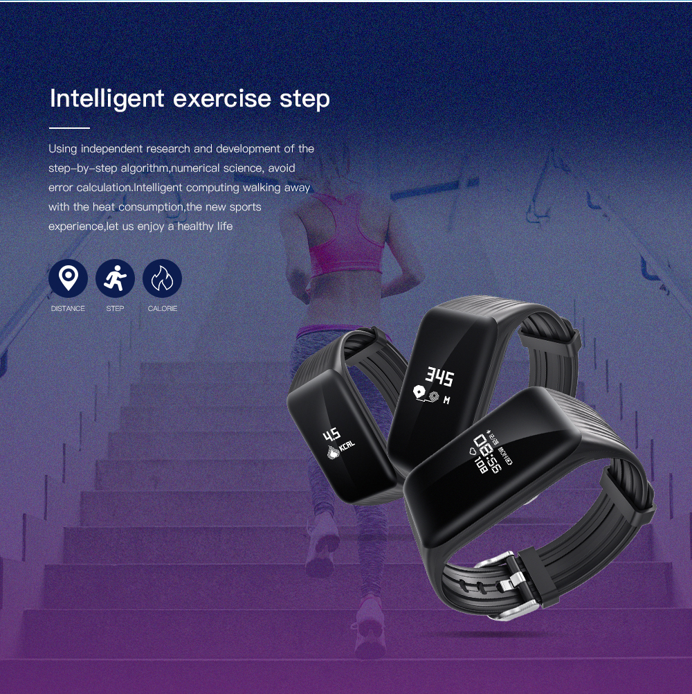 Fitness Bracelet Waterproof IP67 Activity Tracker
