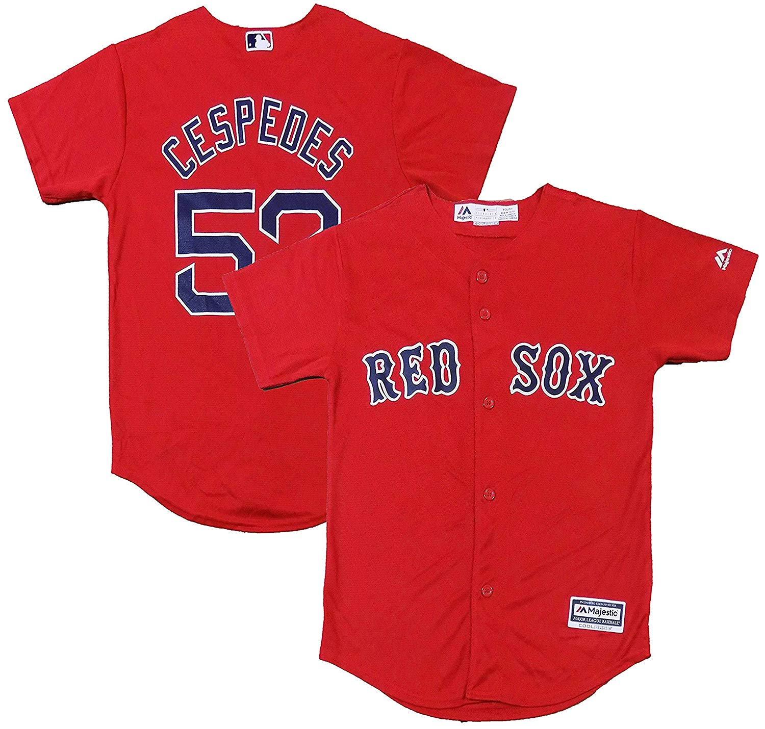 9229237b5 Get Quotations · Outerstuff Yoenis Cespedes Boston Red Sox Red Youth Cool  Base Alternate Replica Jersey