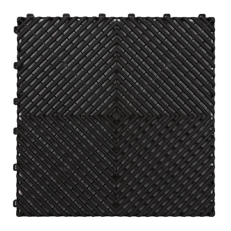 Superieure kwaliteit flexibele pp outdoor grijpende plastic pvc garage vloertegel