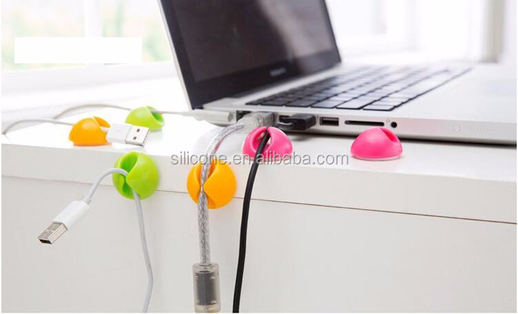Office usb wire holder plastic wall cable clip