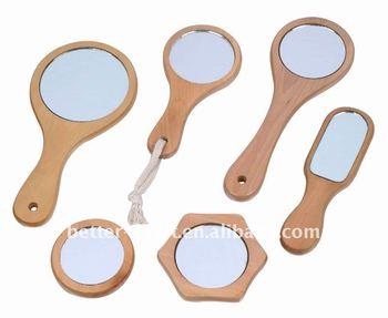 Ronde Houten Spiegel : Kleine ronde houten zakspiegeltje buy zakspiegeltje zak handvat