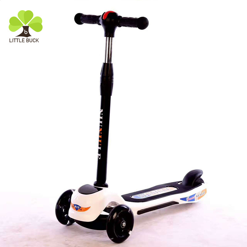 2017 new model cheap k 3 wheel kids kick scooter adjustable children foot scooter foldable children scooter with light