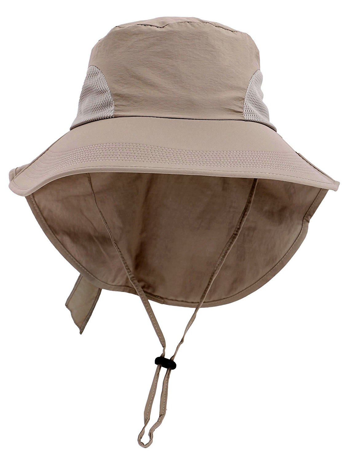 e6d1435a7be Get Quotations · Denovit SPF 50+ UV Sun Protective Foldable Travel Bucket  Hat w Neck Flap