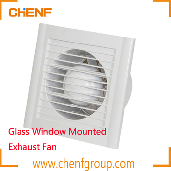 High Quality Mini Bathroom Bedroom Smoking Room Gl Window Mounted Exhaust Fan