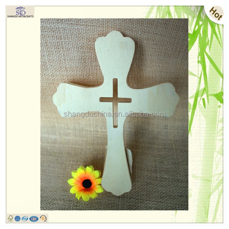 sale kids shaped hollow cutting design wood crosses