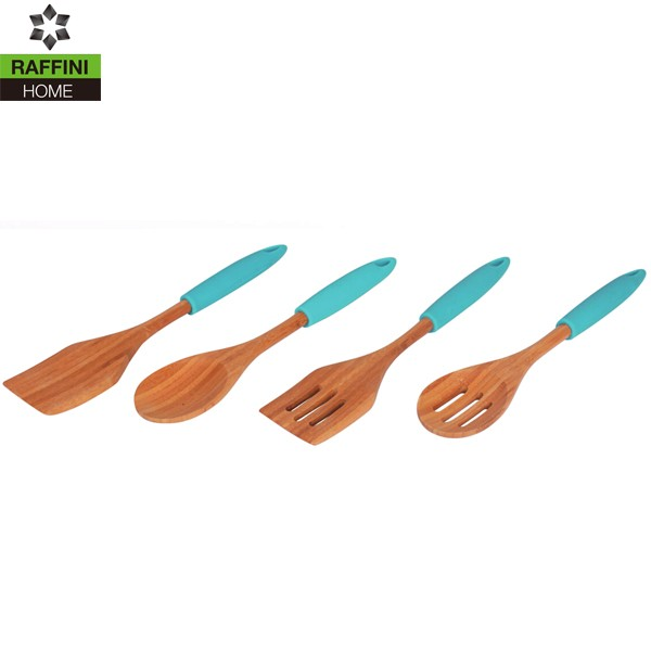 FSC 4PC Set Durable Bamboo Cooking Utensils