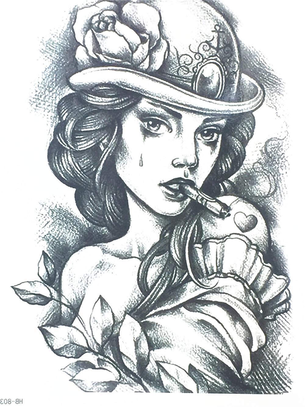 2017 New Fashion Sexy Girl Wirh A Cigarette Flash
