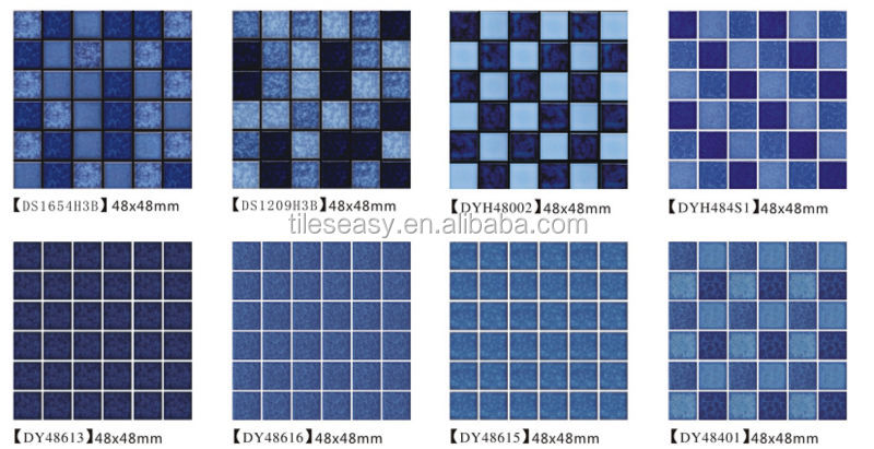 Blue Modern Exterior Wall Floor Tile Cheap Swimming Pool Tiles