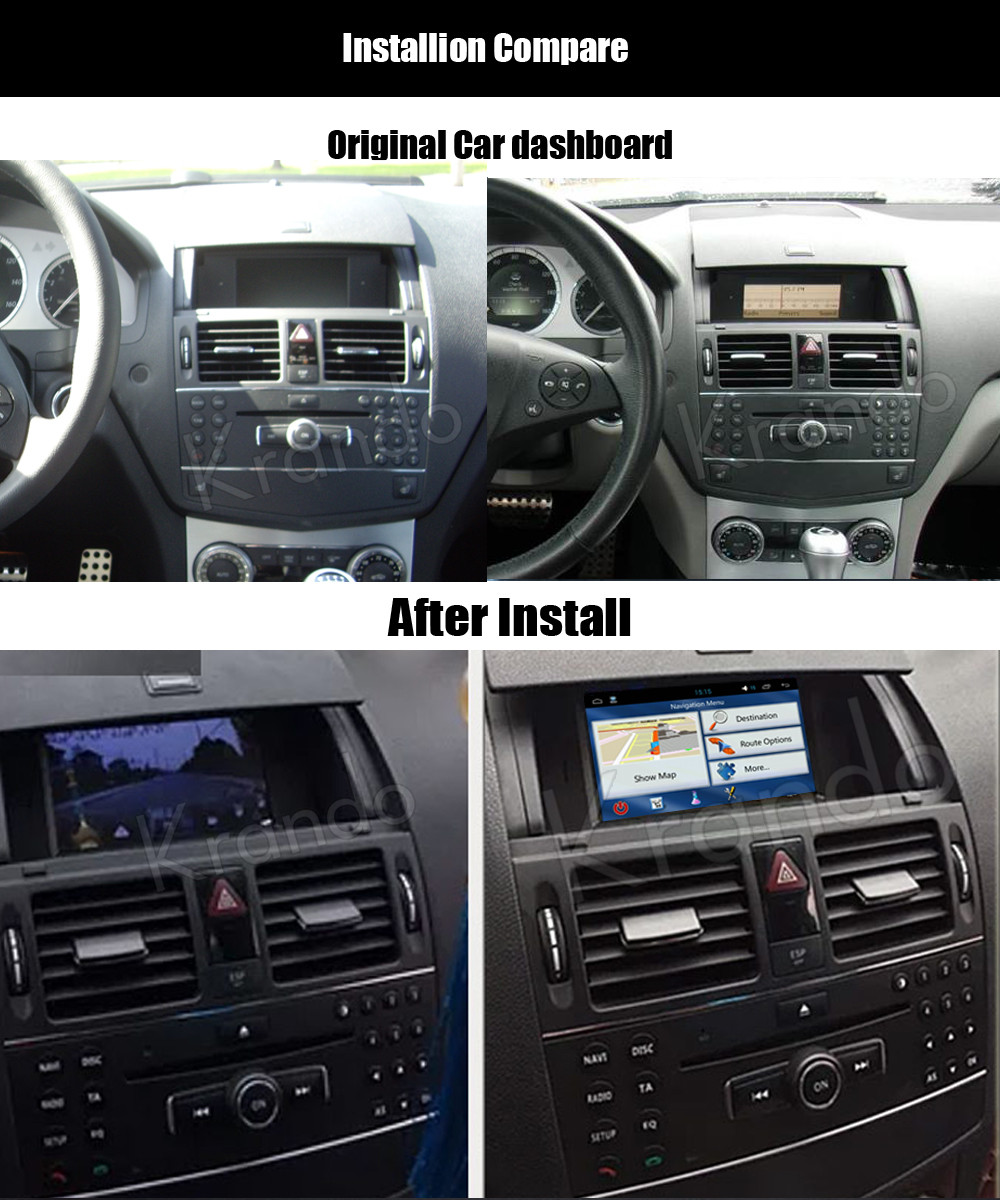 Krando Android 7 1 Car Radio For Mercedes For Benz C W204 C180 C200  2007-2011 Car Dvd Navigation Gps Multimedia System Kd-mb180 - Buy For  Mercedes For