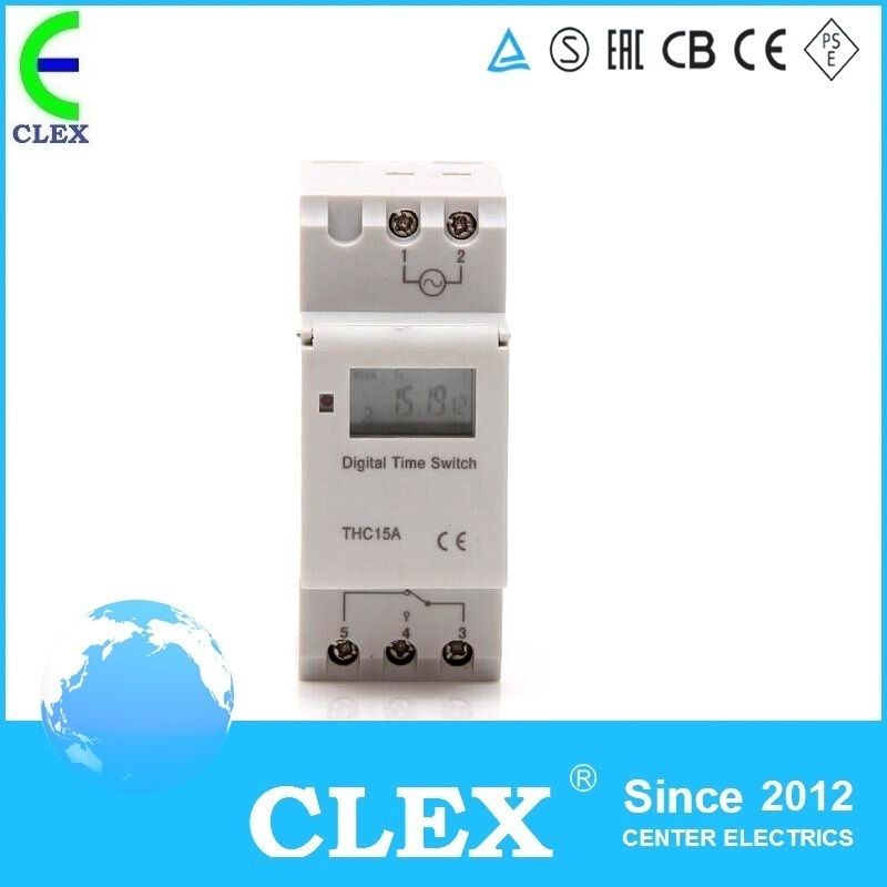 THC15 AC 110V Digital LCD Programmable Timer AC 110V 30A Time Timer Relay Switch