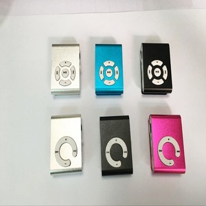 Hot sale clip mp3 player with good quality support SD TF card 1GB to 16GB
