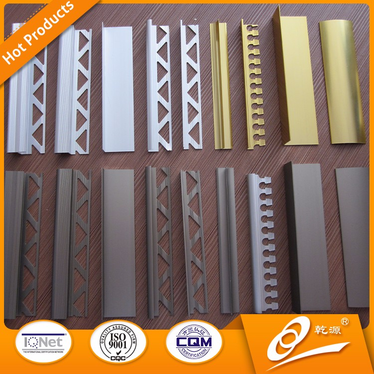 Bathroom design alloy leveling system clips and decorative corner tile trim in customized colour