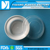 White microwave oven safe disposable commercial plastic packaging for food